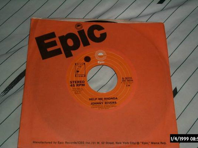 Johnny Rivers - Help Me Rhonda with brian wilson 45 nm