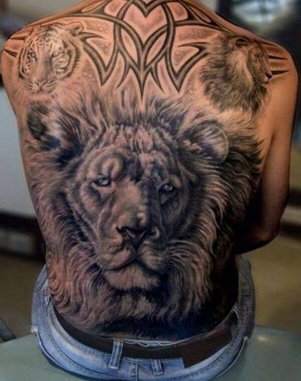 Tatouage Lion et Tigre Art