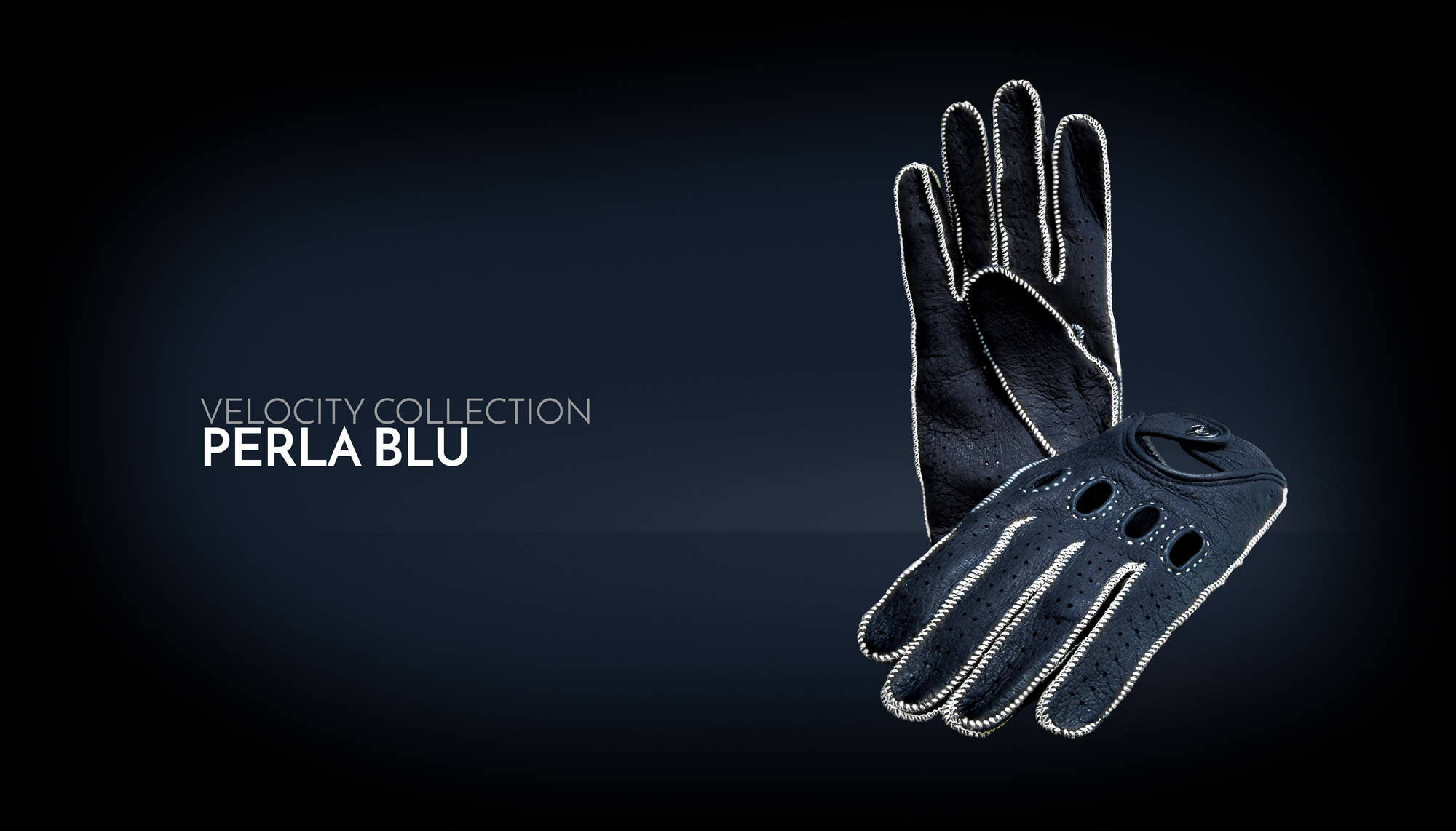 Blue Driving Gloves