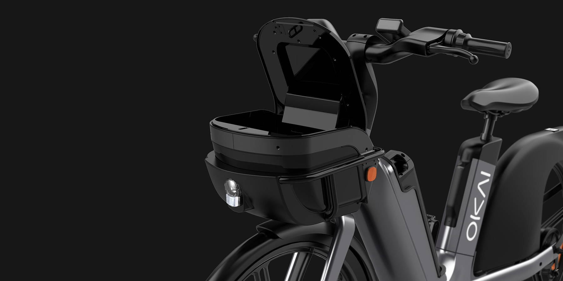 Okai Micromobility Manufacturer, EB100 Electric Bike Helmet Storage