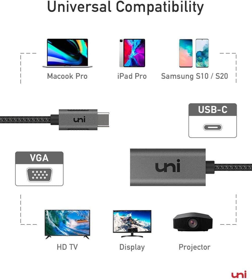 USB-C to VGA Adapter - Gray