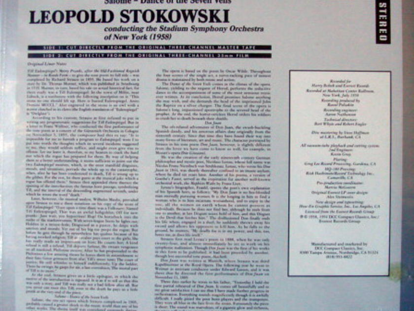 ★Sealed Audiophile 180g★ Everest-DCC Compact Classics / STOKOWSKI, - R. Strauss Till Eulenspiegel's Merry Pranks, Don Juan,  Rare Sealed Out-of-Print!
