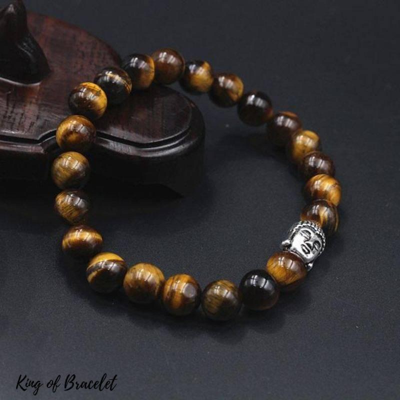Bracelet Bouddhiste en Perles Oeil de Tigre - King of Bracelet