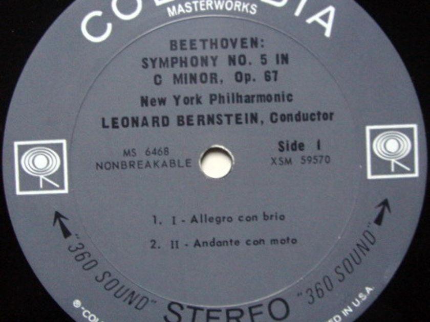 Columbia 2-EYE / BERNSTEIN, - Beethoven Symphony No.5, NM!
