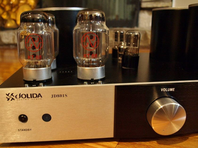 Jolida  JD801S   1 year old amp, upgraded Silver/black excellent condition with new JJKT88, upgraded vintage tubes