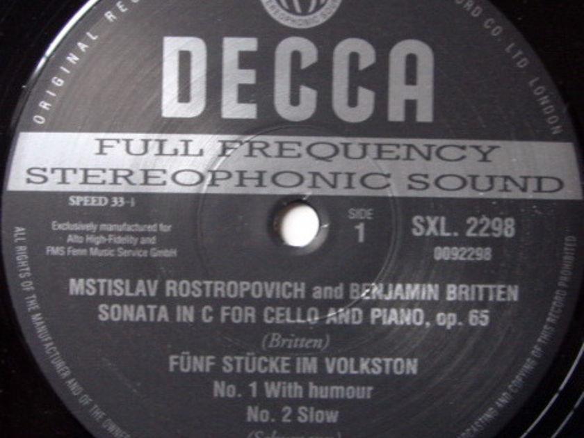 ★Audiophile 180g★ DECCA-Alto Corner / ROSTROPOVITCH, - Britten-Debussy Cello Sonatas, MINT(OOP)!