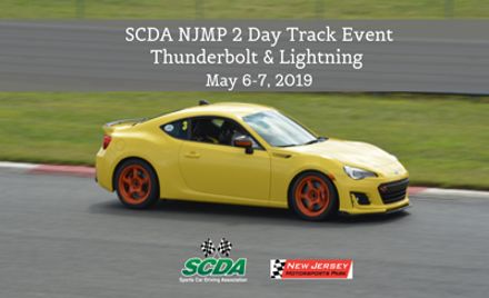 SCDA- NJMP-HPDE- May 6-7 Thunderbolt & Lightning