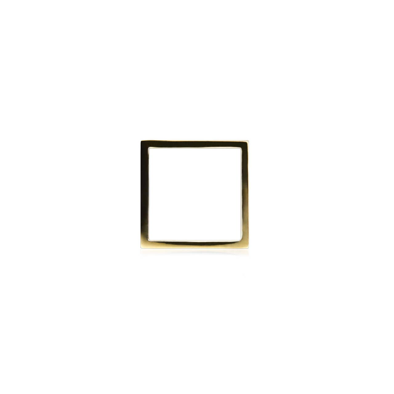 Square Ring in Brass