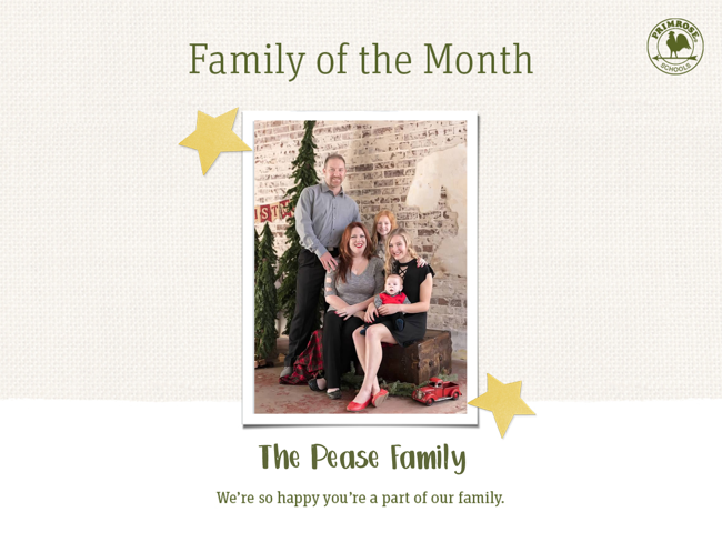 Family of the Month April 2019 Preschool Daycare