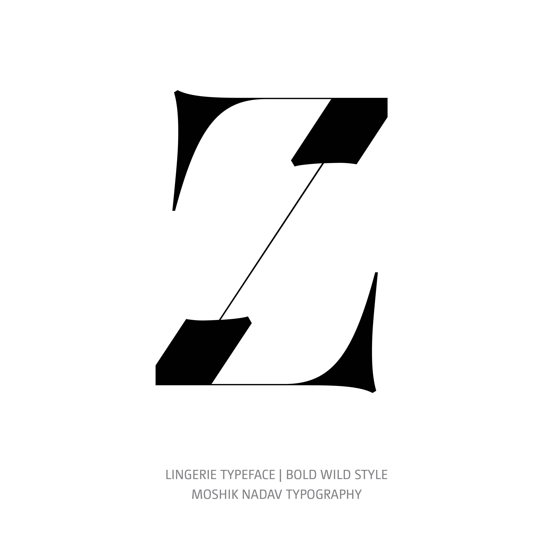 Lingerie Typeface Bold Wild Z