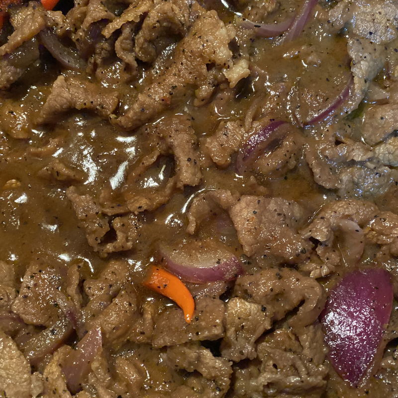 Black pepper beef. My go to easy recipe from saji.my.