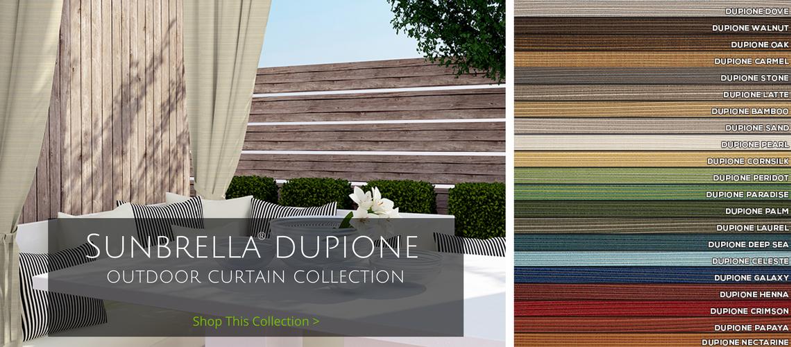 sunbrella dupione outdoor curtain collection