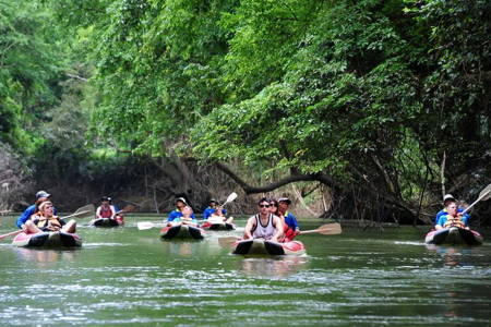 Canoeing in Khao Sok National Park