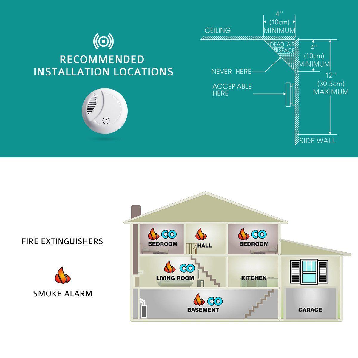 holife rauchmelder holife 10 jahres rauchwarnmelder brandmelder feuermelder. Black Bedroom Furniture Sets. Home Design Ideas