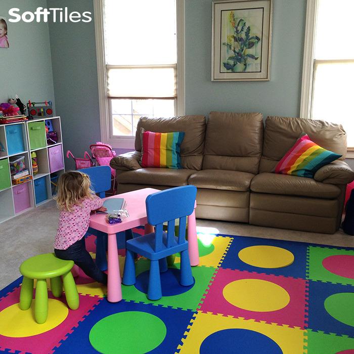 Foam Play Mat Tiles Flooring For Playroom Softtiles