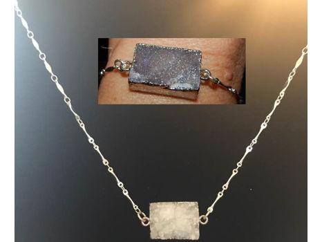 Druzy Necklace and Bracelet