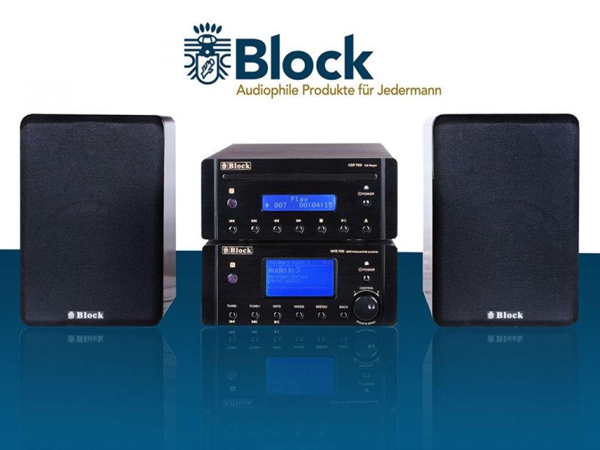 AUDIOBLOCK GERMANY MHF-700L AMP, FM, CD PLAYER, PC STREAMER, INTERNET RADIO