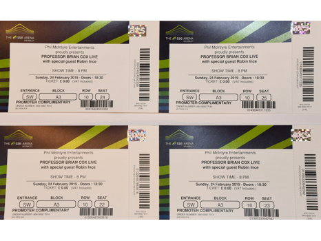4 TICKETS TO BRIAN COX LIVE SHOW IN LONDON + 3 SIGNED BOOKS