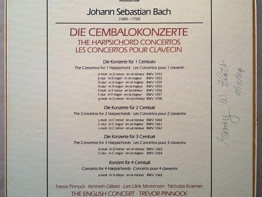 ARCHIV   PINNOCK/BACH - The 13 Harpsichord Concertos / 4-LP / NM