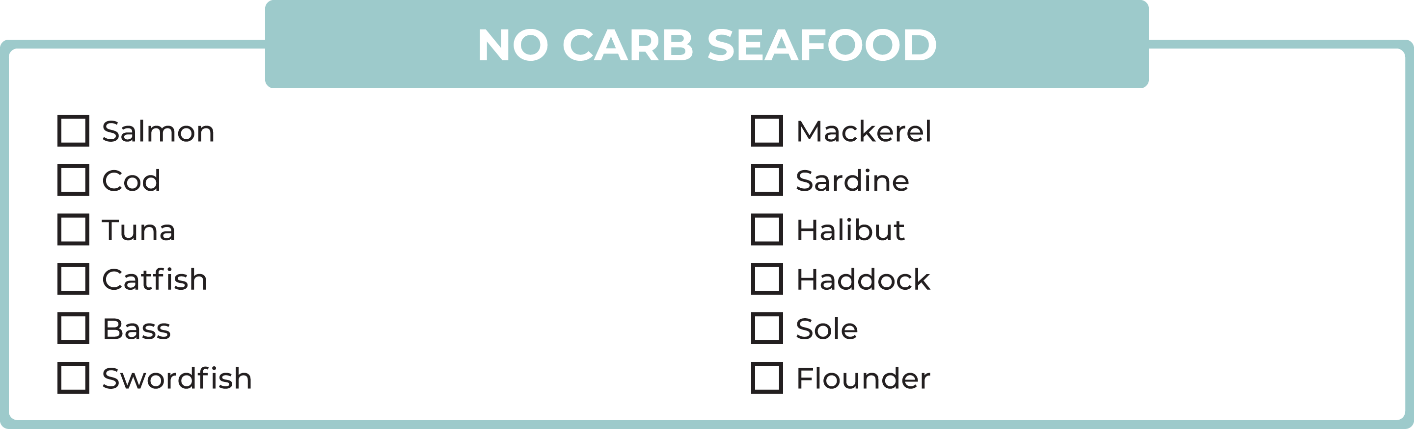 No carb seafood