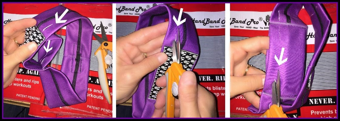 How to snip the finger slits on HandBand Pro® OMEGA