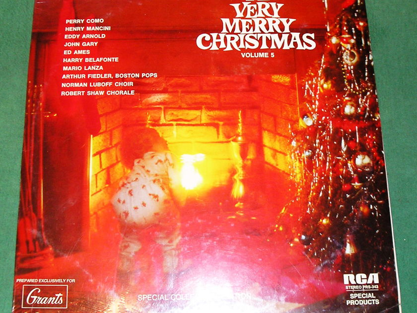A VERY MERRY CHRISTMAS Vol 5 (PRS-343)  - RCA SPECIAL PRODUCTS PRESS – EXCLUSIVELY FOR GRANT S * NEW/SEALED *