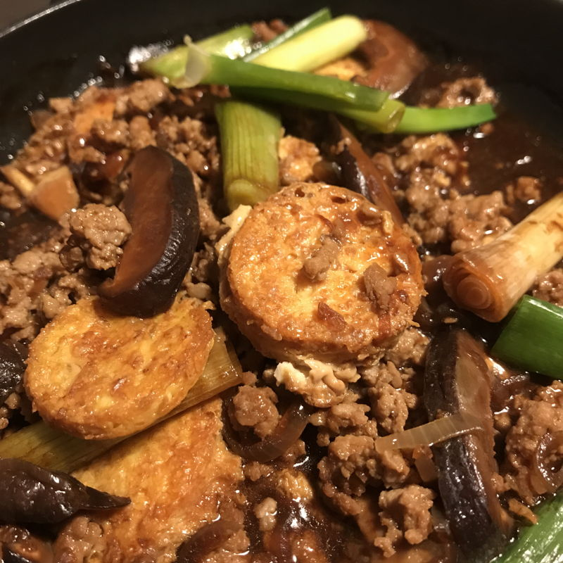 Sizzling Japanese Tofu for dinner
