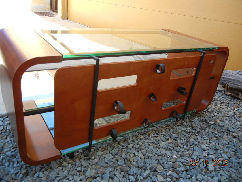 BDI  Euro Style AV Stand --Stunning Wood and Glass Design