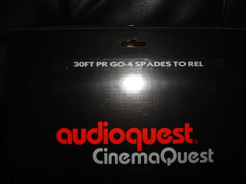 Audioquest Cinemaquest GO-4 Spades to REL sub