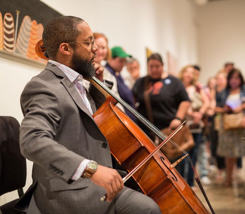 Cellist in Gallery