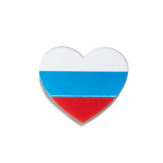 """Брошь """"Сердце России"""""""