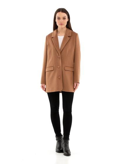 Пальто-пиджак цвета camel