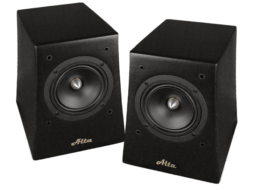 Alta Audio  Solo Bookshelf Speakers Available in Textured Black or Rosewood