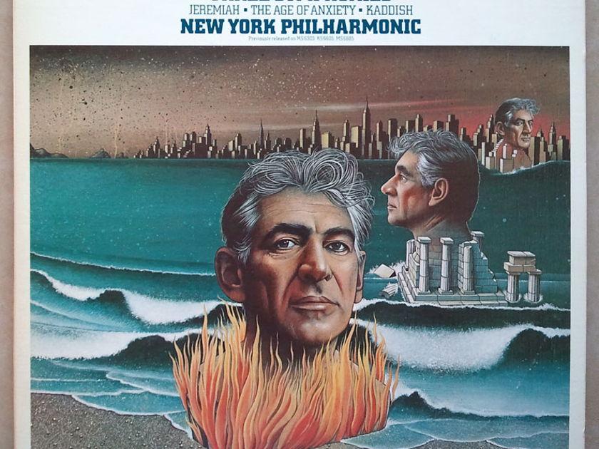 COLUMBIA | BERNSTEIN conducts - HIS Three Symphonies / 2-LP set / NM