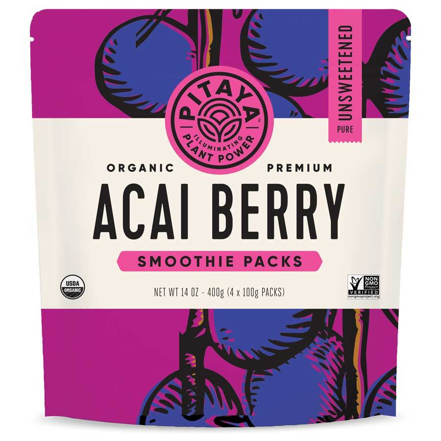 Pitaya Organic Acai Berry Smoothie Packs