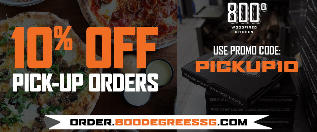 800° Woodfired Kitchen - Woodfired Pizza, Rotisserie Chicken, Salads and more!