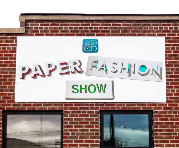 Signs & Banners - Paper Fashion Show Sign