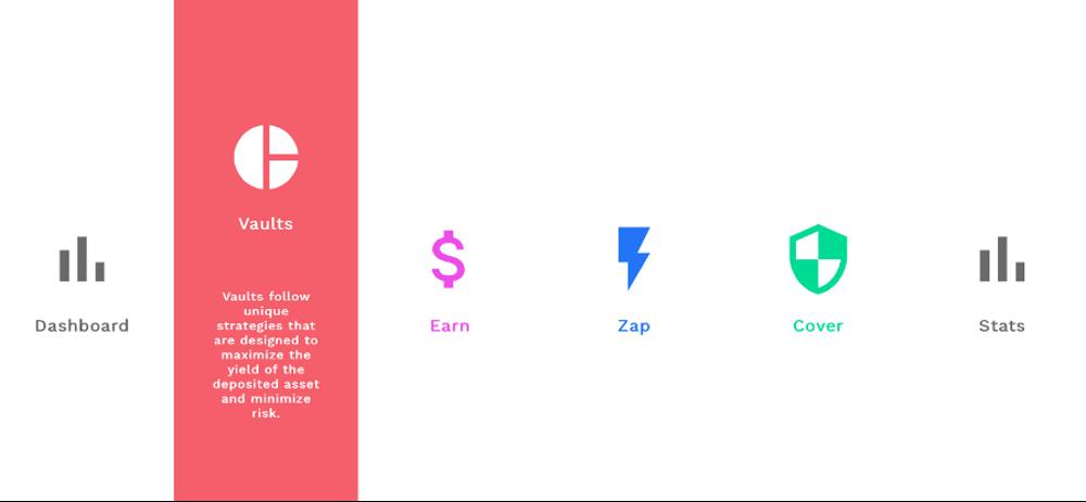 Screenshot of Yearn.finance Interface