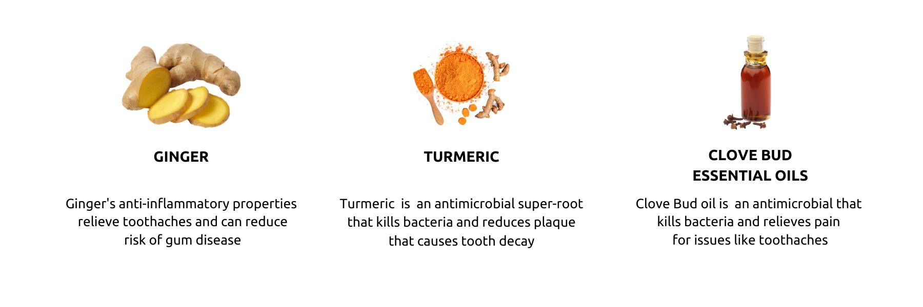 Our turmeric toothpaste flavor was inspired by two of our favorite natural remedies.