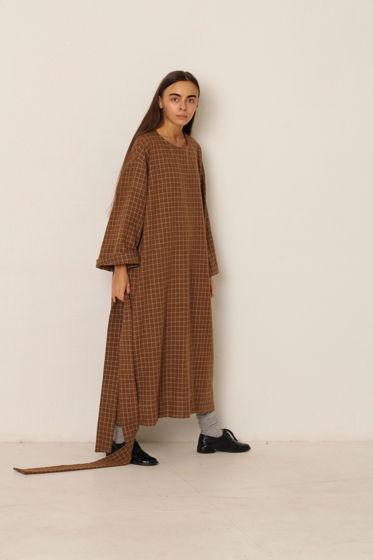 Платье теплое и уютное в клетку