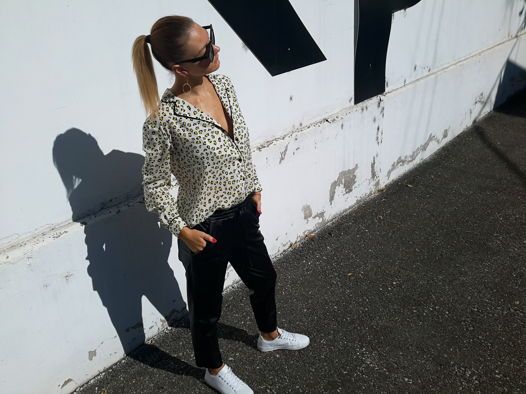 Рубашка из вискозы с леопардовым принтом