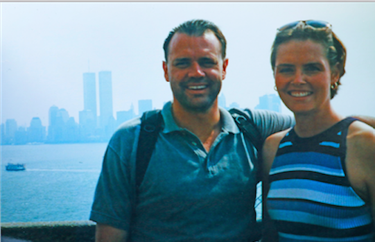 The author with his wife, Aliesha: None of us who trained in 2 World Trade Center could have imagined that the building we sat in every day would no longer exist just weeks later.