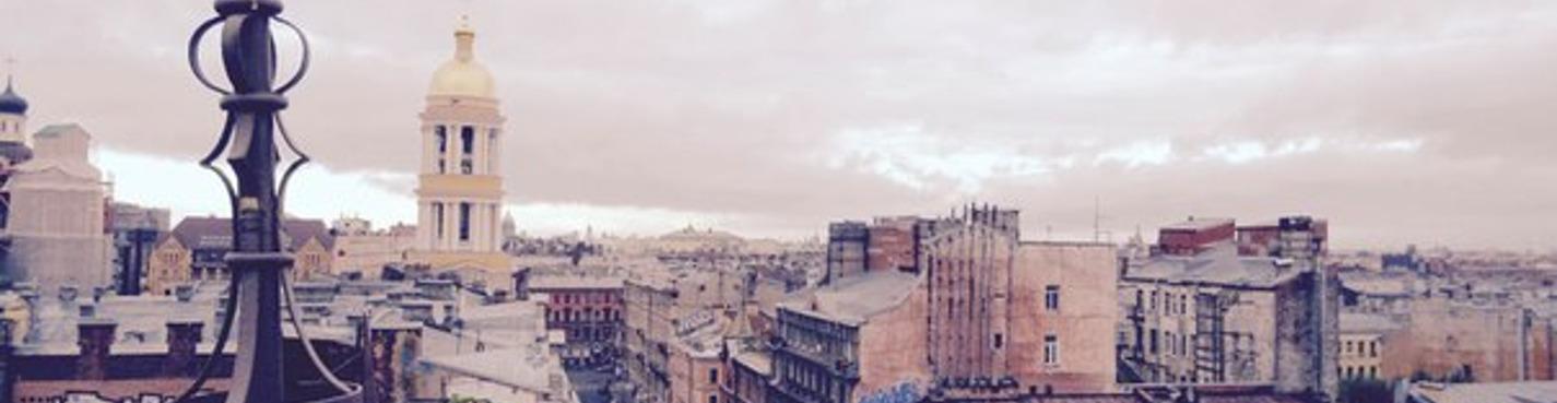 Roof top tour in St Petersburg