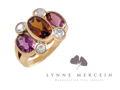 Tourmaline, Garnet and Diamond Ring from Lynne Mercein