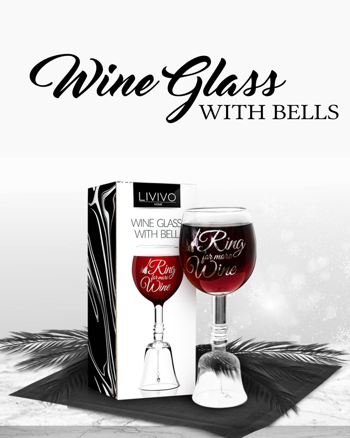 Wine Glass With Bells