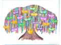 Art by Allie Poster - Family Bead Tree Poster