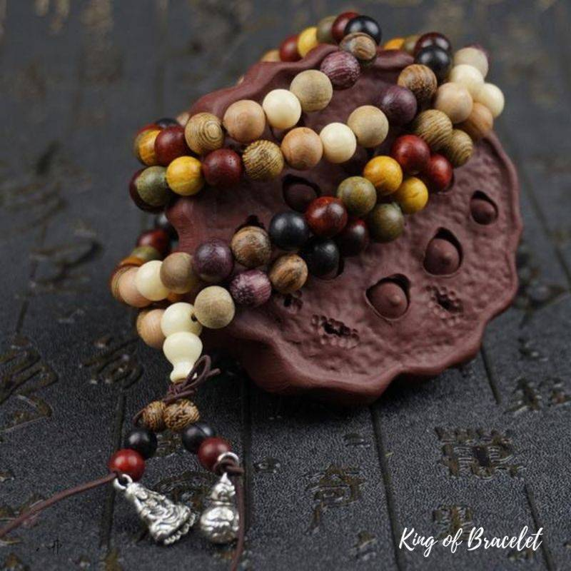 Bracelet Mala en Perles de Bois de Santal - King of Bracelet