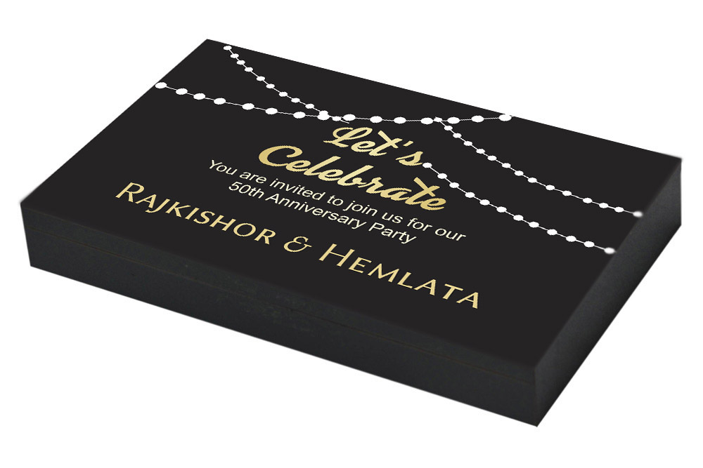 Customised 50th Anniversary Invitation