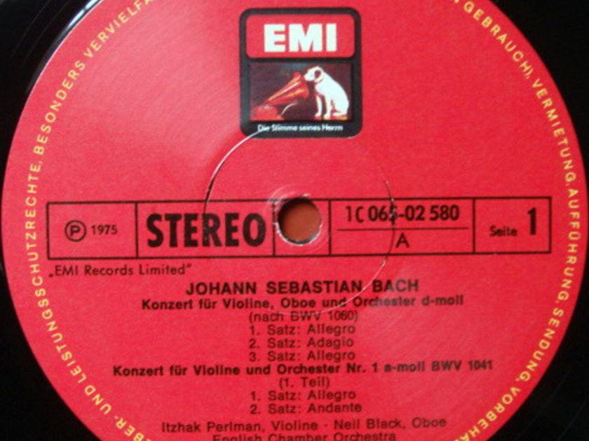 EMI HMV / PERLMAN-BARENBOIM, - Bach Violin Concertos, MINT!