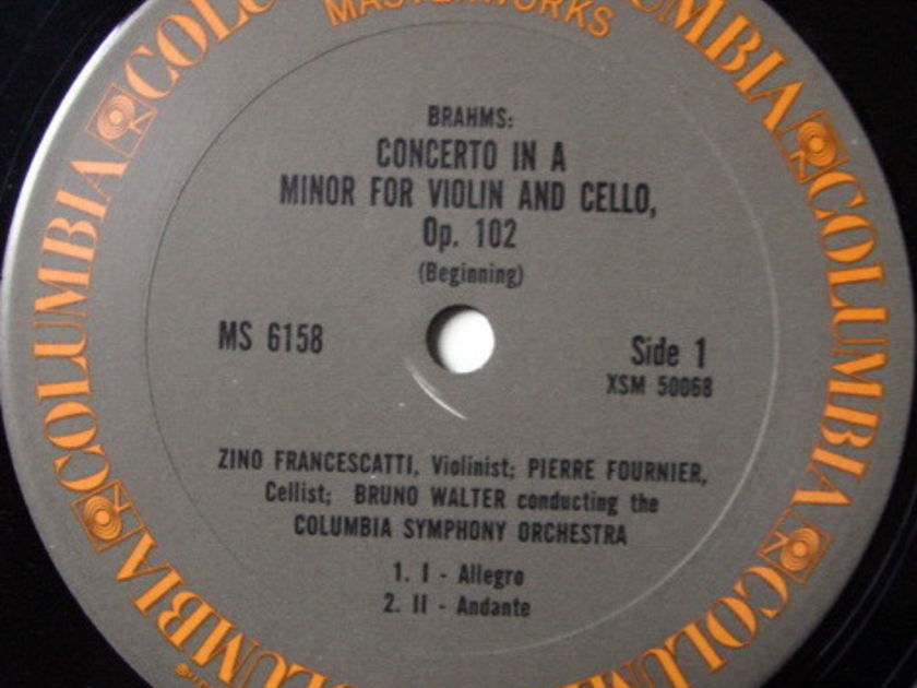 Columbia / FOURNIER-FRANCESCATTI-WALTER, - Brahms Double Concerto, NM!